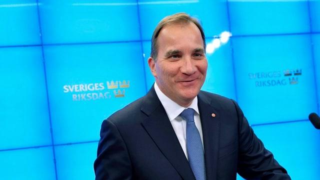 Schwedischer Staatschef Stefan Löfven bei einer Rede