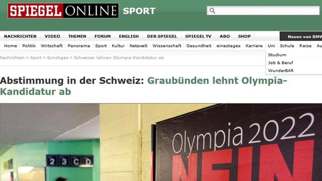 Screen-Shot von der Spiegel-Webseite