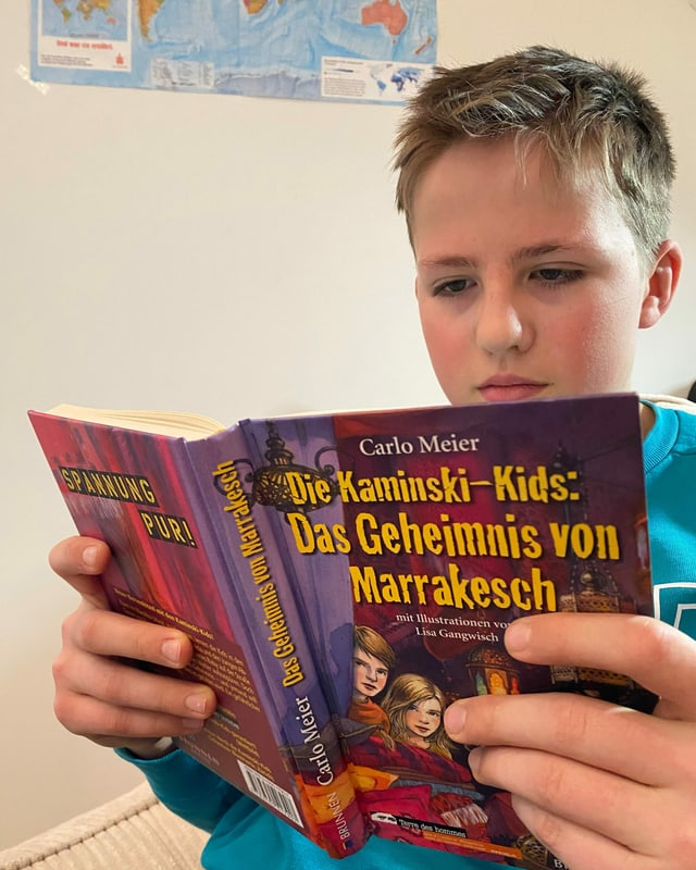 Clemens liest Kaminski-Kids