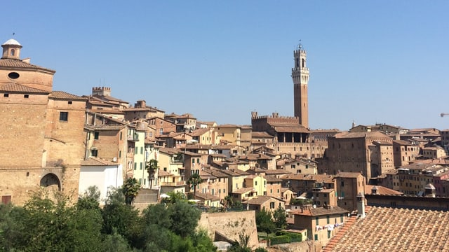 Ina vista da la citad da Siena.