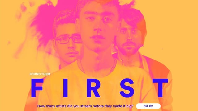 "Die Band Years And Years auf der ""Found Them First""-Unterwebsite von Spotify."