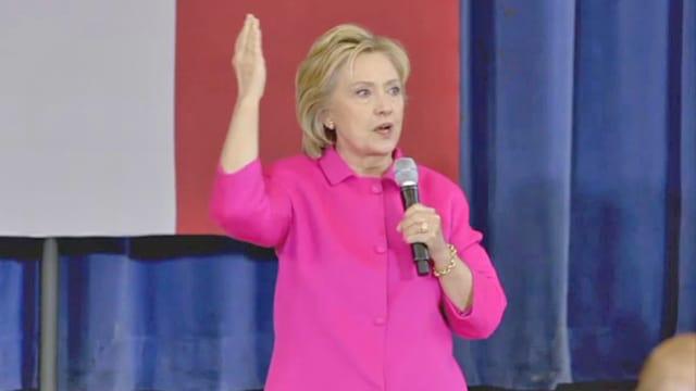 Hillary Clinton bei einem Auftritt.