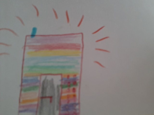 Regenbogenfarbige Zeitmaschine