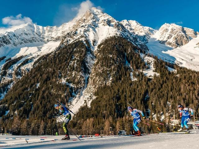 Die Schweizer Biathleten wollen in Antholz Grosses erreichen.