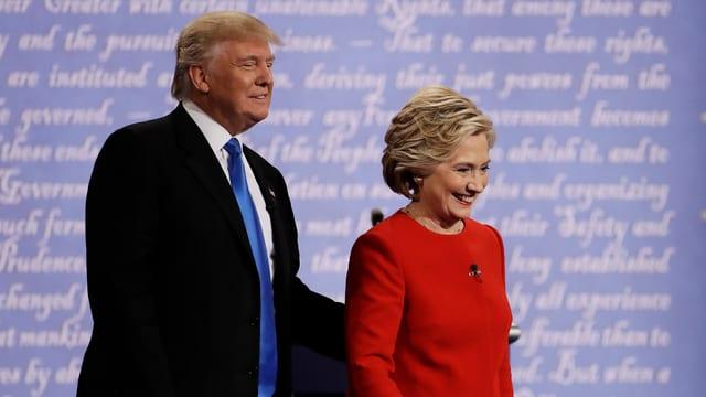 Foto von Hillary Clinton und Donald Trump