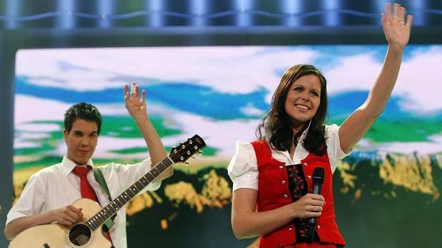 Melanie Oeasch am Grand Prix für Volksmusik