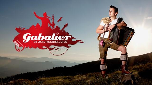 Andreas Gabalier und Logo.