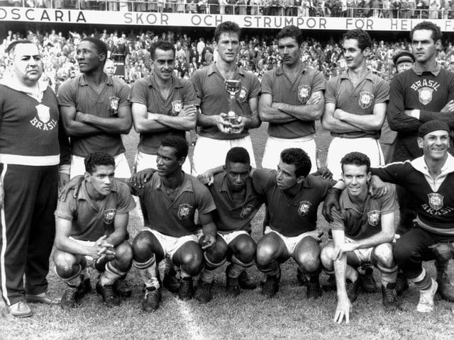 Die brasilianische Nationalmannschaft an der WM 1958.
