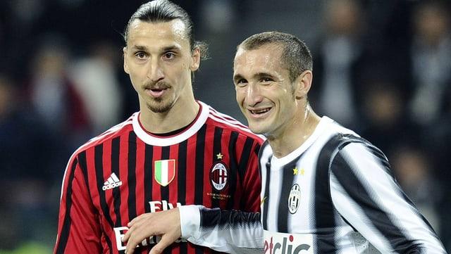 Zlatan Ibrahimovic und Giorgio Chiellini