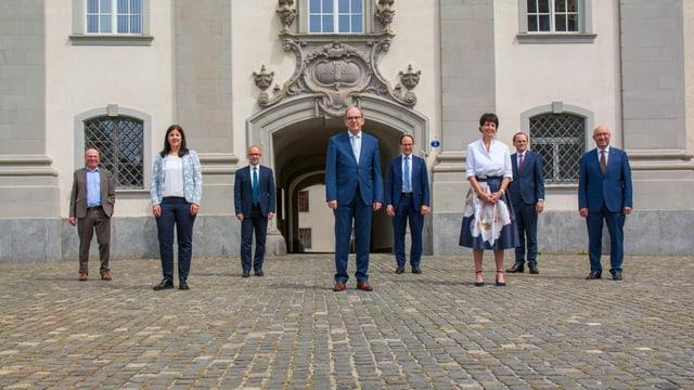 Gruppenbild St. Galler Regierung