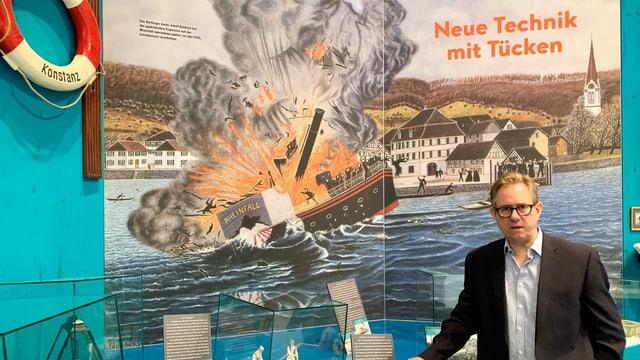 Im 19. Jahrhundert starben bei Schiffsunglücken viele Menschen auf dem Bodensee.