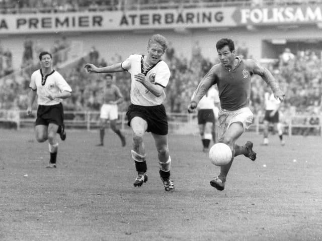 Fontaine 1958 im Spiel um Platz 3.