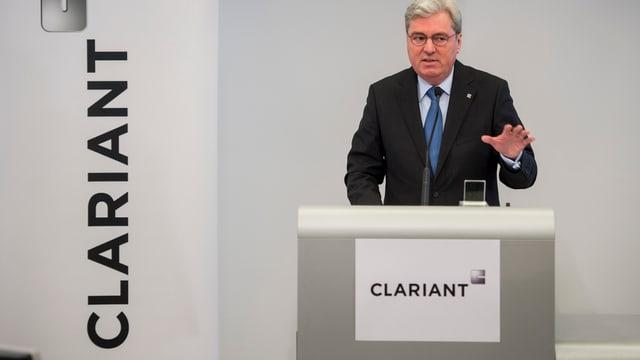 Hariolf Kottmann an der Pressekonferenz