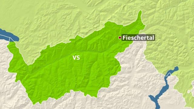 Karte Fieschertal.