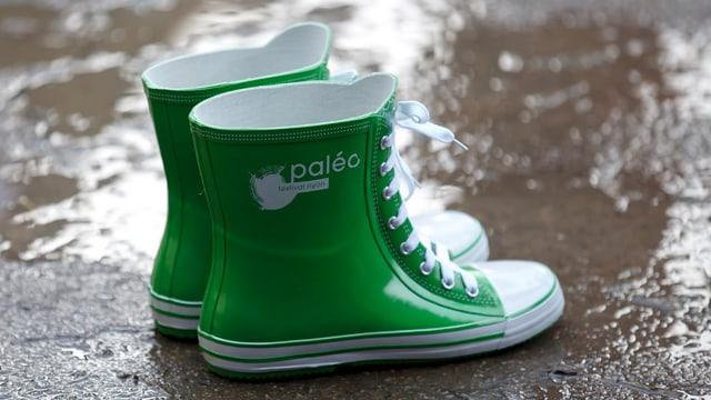 Grüne Gummistiefel