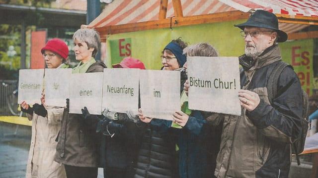 Il cumenzament da la rimnada da suttascripziuns da l'allianza «Es reicht!».