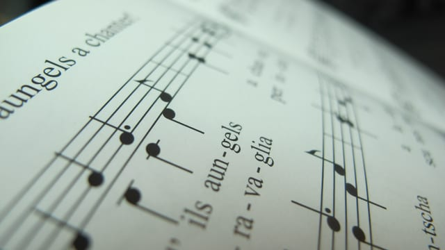 Ein Ausschnitt aus einem Liederbuch