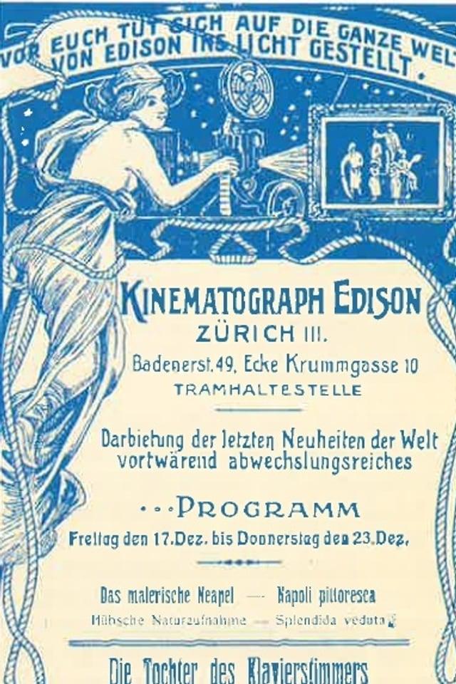 Altes Plakat mit Kinoprogramm