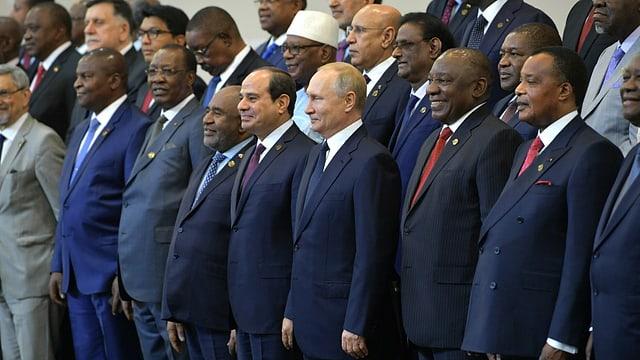 Putin mit Vertretern afrikanischer Länder