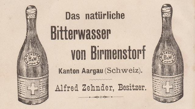 Plakat von zwei Flaschen