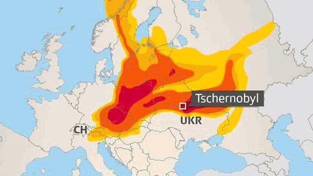 Grafik: Ausbreitung der Wolke