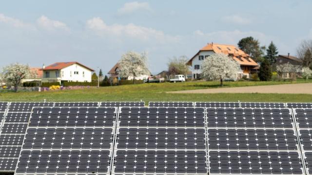 Solardach auf dem Land