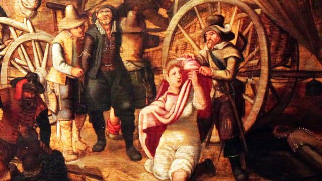 Maraudiere Soldaten im Dreissigjährigen Krieg.