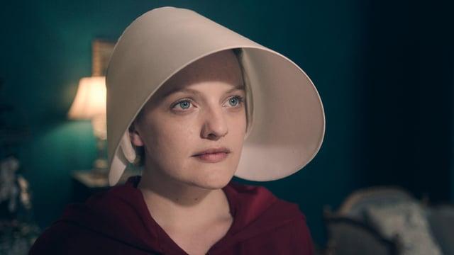 Elisabeth Moss in «Handmaid's Tale».