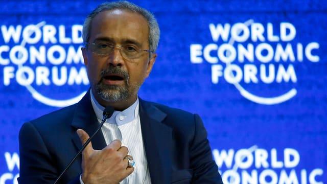 Mohammad Nahavandian, der Stabschef des iranischen Präsidenten, am Wef in Davos.