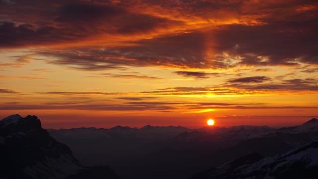 Kitschiger Sonnenaufgang