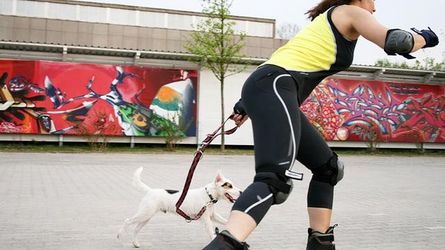 Auch ein Hund ist guter Grund, sich mehr zu bewegen.