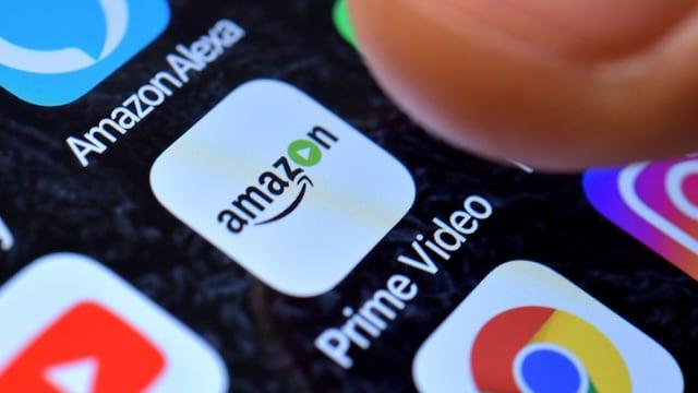 Video-App von Amazon auf Bildschirm.