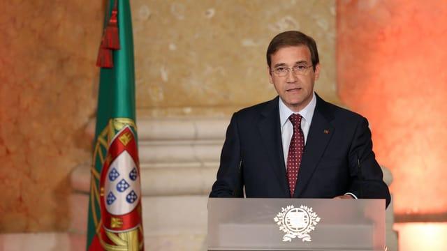 Il primminister dal Portugal, Pedro Passos Coelho.