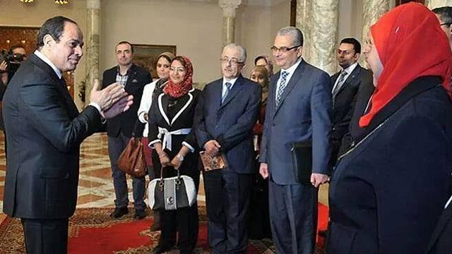 Rabab El Sherif beim Treffen mit Präsident Abdel Fattah Al Sisi