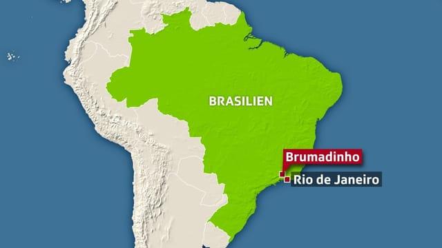 Der Dammbruch ereignete sich nahe Rio de Janeiro.