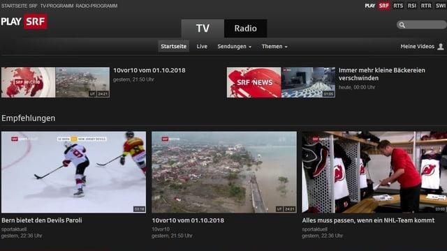 Videoarchiv Play SRF