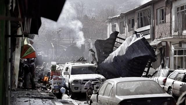 Devastaziuns suenter attatga terroristica.