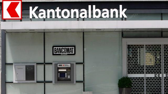 Eine Bankfiliale von aussen.