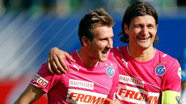 Vero Salatic (r.) und Izet Hajrovic überzeugten in den bisherigen drei Saisonspielen.