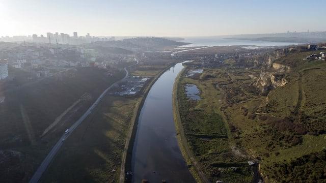 Lage, wo der Kanal entstehen soll