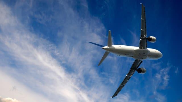 Flugzeug in der Luft.