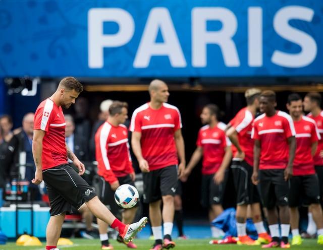equipa el trenament a Paris