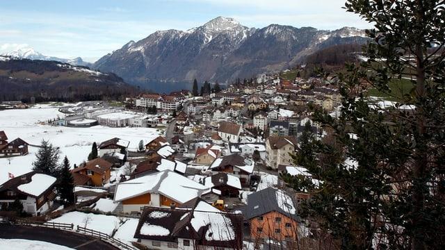 Blick auf die Gemeinde Morschach im Kanton Schwyz.