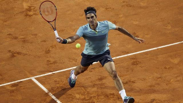 Roger Federer sin in plaz da tennis