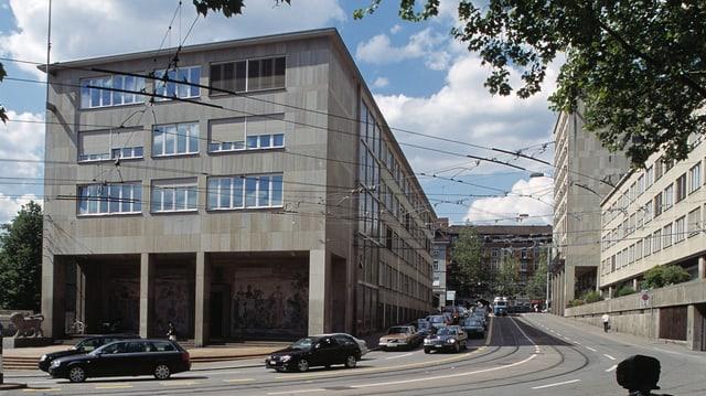Das kantonale Verwaltungsgebäude Walche in der Stadt Zürich