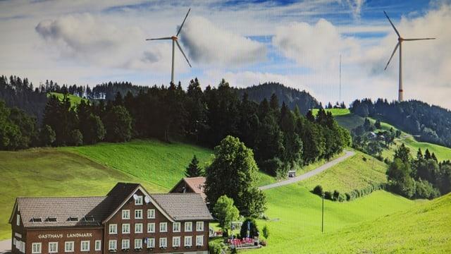 Geplante windanlage bei Oberegg