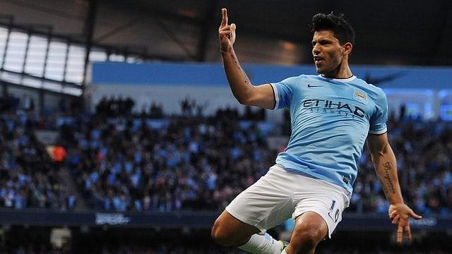 Sergio Agüero ebnete Manchester City mit seinem 2:0 früh den Weg zum klaren Sieg.