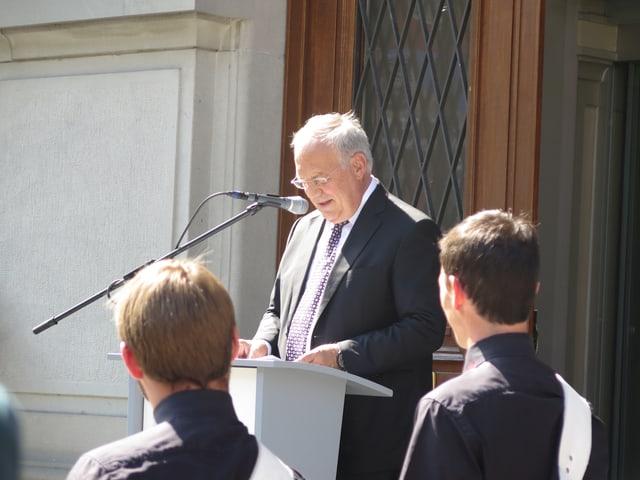 Bundespräsident Johann Scheider Ammann