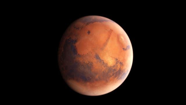 Der Planet Mars wird auch Roter Planet genannt.