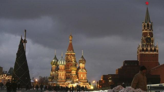 Plazza cotschna a Moskau la saira.